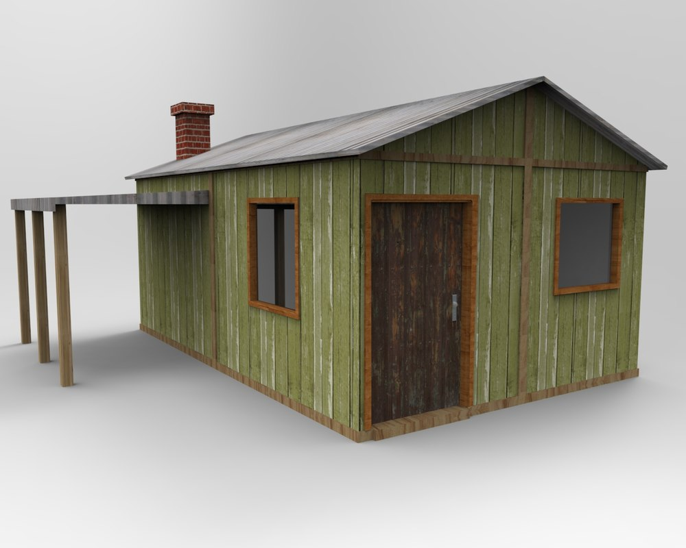 3d model small old house