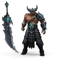 3d warrior man model