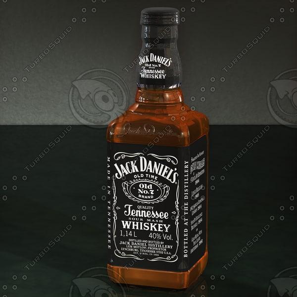3d model jack daniel s whiskey bottle