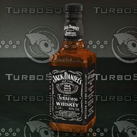 3d model jack daniel s whiskey bottle