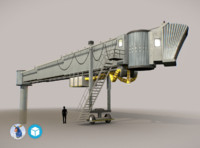 3d model low-poly airbridge