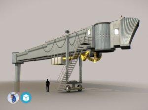 3d model low-poly airbridge