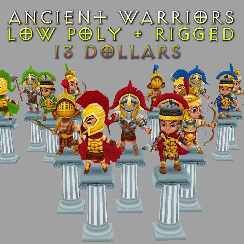 3d model warriors gold