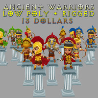 3d model warriors gold