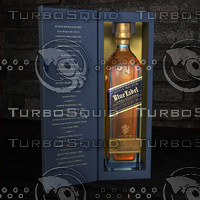 3d dxf johnnie walker blue label