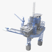offshore jackup rig 3d max