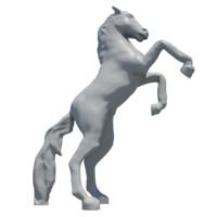 3d horse sculpture