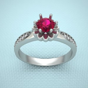 print ring 3d obj