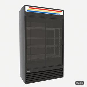 3d model commercial merchandise refridgerator