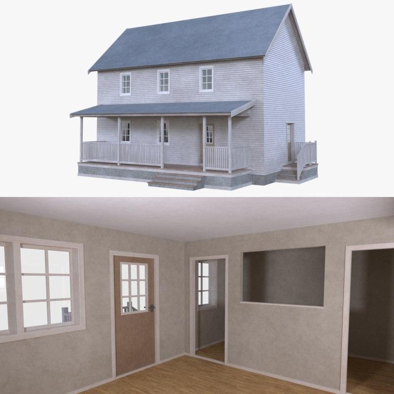 3d home interior house model