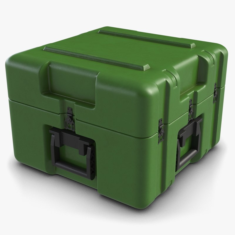 3d model of military case small
