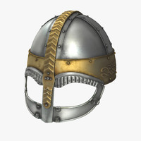 Viking Horned Helmet 3D Model
