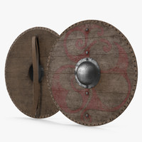 3d model viking shield 3