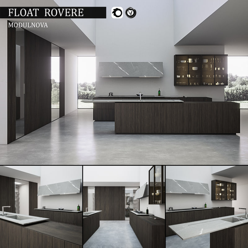 kitchen float rovere 3d model