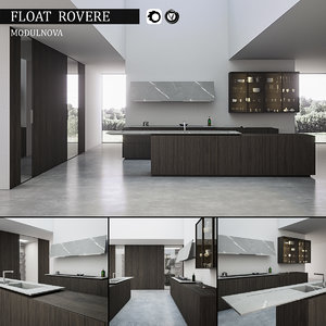 3d model kitchen float rovere
