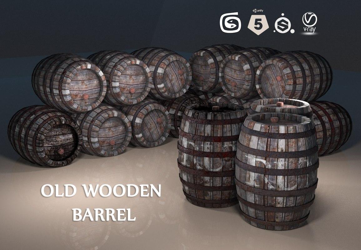 max wooden barrel pbr old
