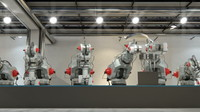 3d model of robotic production printers ready