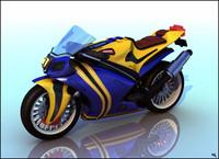 3d moto motorbike t model