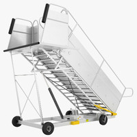 Portable Passenger Airplane Steps 01