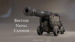 3d british naval cannon pbr
