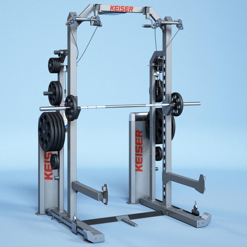 keiser half rack exercises max