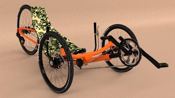 recumbent bicycle 3d max
