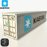 shipping container maersk 3d model