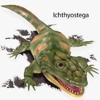 3d ichthyostega devon model