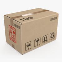 cardboard box small 3d max
