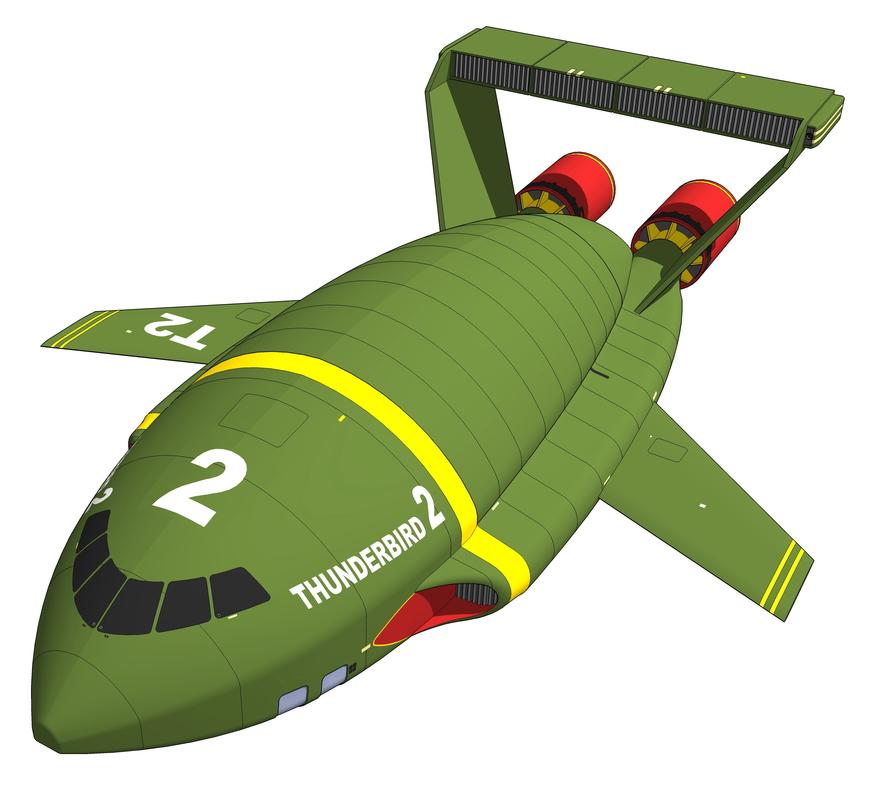 3d model thunderbird 2