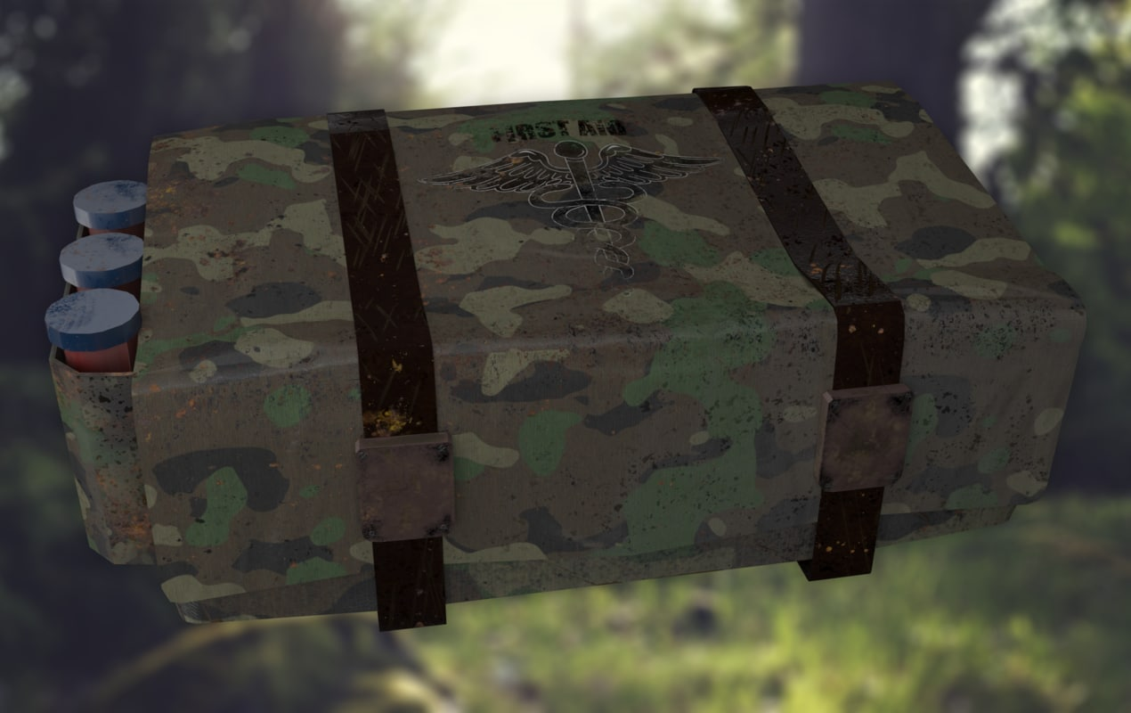 medical supplies crate obj