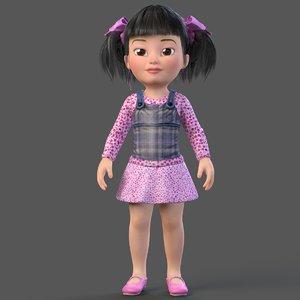 cartoon child girl max