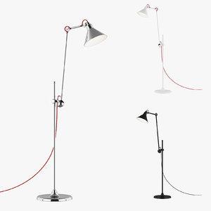 3d model 76571x loft lightstar floor lamp