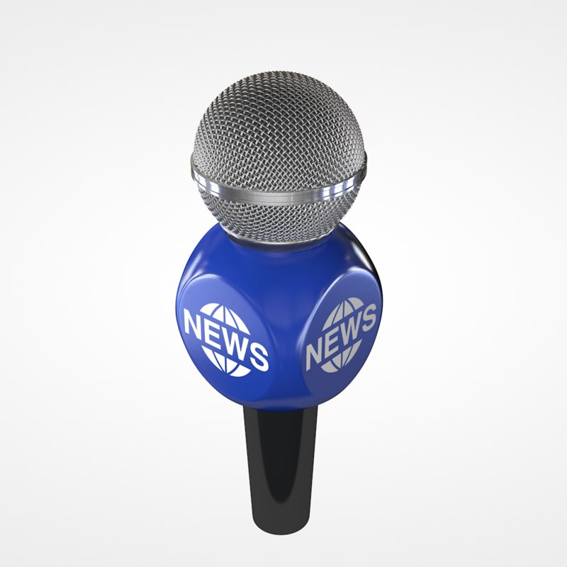 reporter microphone 3d model