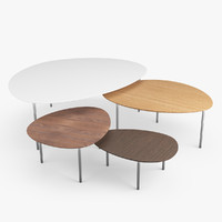 3d stua ecliple nesting tables model