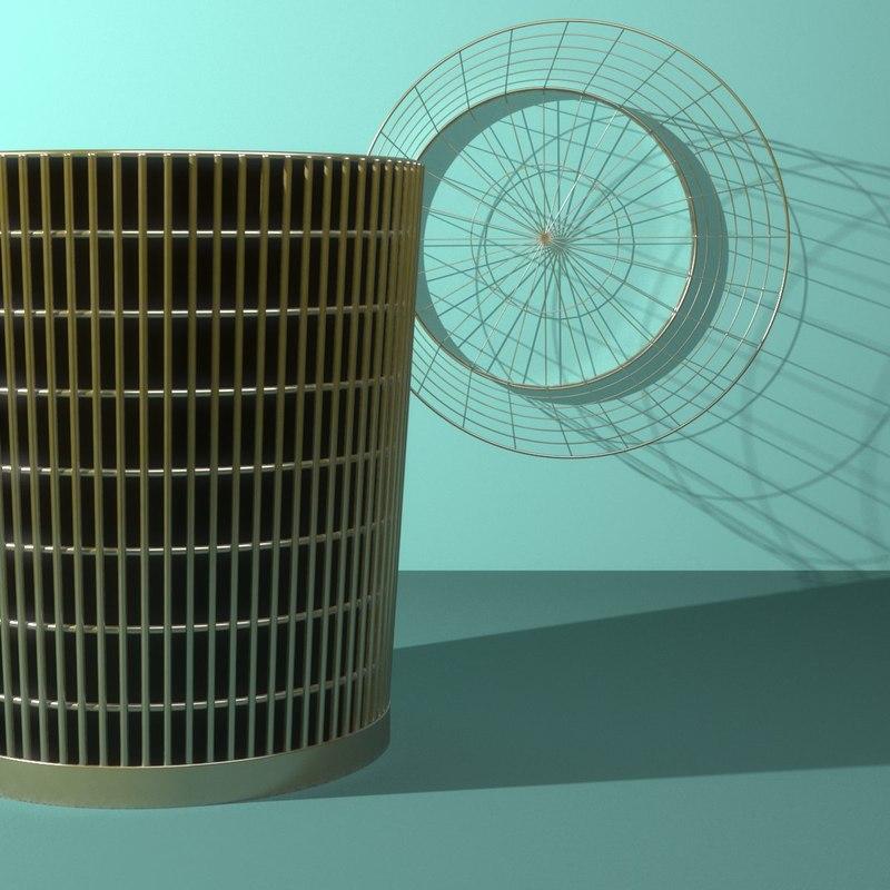 Wire Waste Paper Basket | Wire Waste Paper Baskets 3d Model