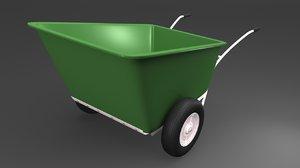 3d model wheelbarrow barrow