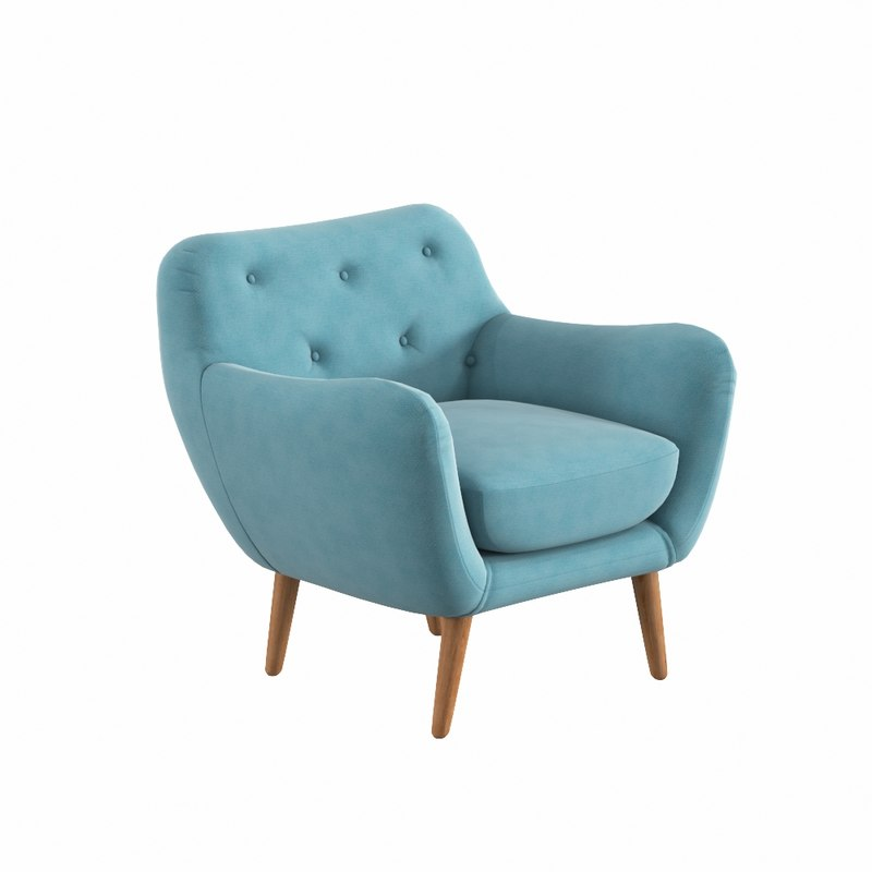 3d model zara armchair