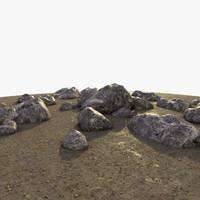 scene rocks formation 3d model