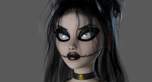 3d model gothic woman druilla