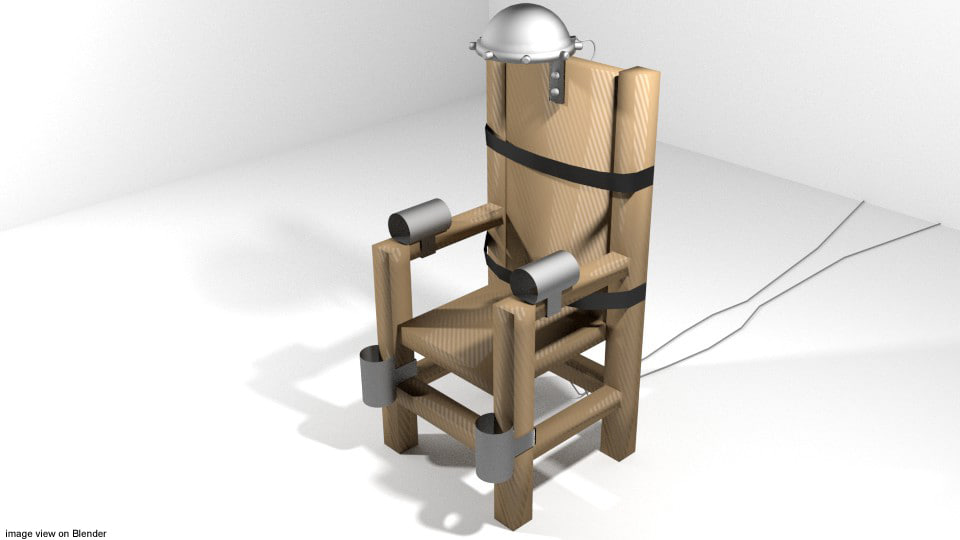 3d chair electric punishment model