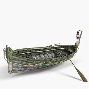 small boat 3d model
