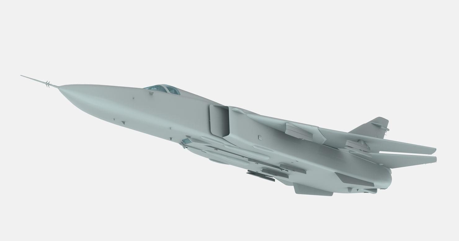 3d russian strike aircraft 49k model