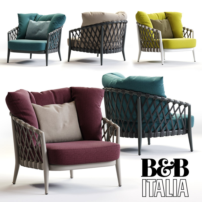 b italia erica armchair 3d max