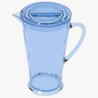 3d ltrn2606 hamilton acrylic pitcher model