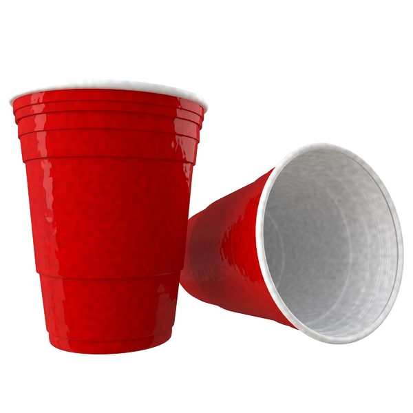 red solo cup 3d c4d
