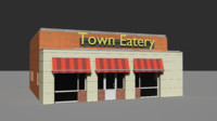 eatery building asset 3d model