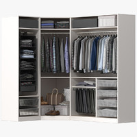 Wardrobe with Clothes 05
