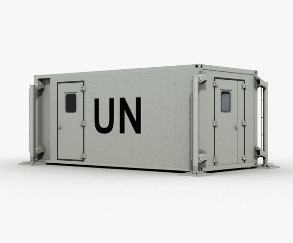mobile hospital 3d model