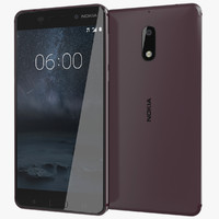 3d model realistic nokia 6 black